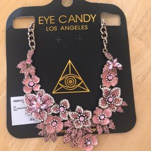 Eye candy necklace earrings bundle
